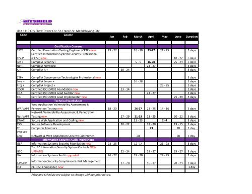 Blast for Trainings Schedule 2012.pdf - all-mail-archive