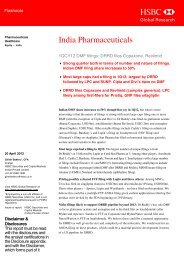 India Pharmaceuticals-1QCY12 DMF filings ... - all-mail-archive