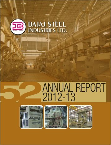 Annual Report 2012-2013 - Bajaj Group