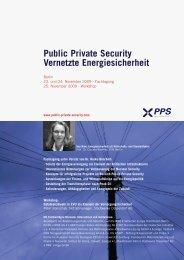 Public Private Security Vernetzte Energiesicherheit