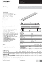 Digital dimmable ballasts for fluorescent lamps EXCEL ... - Tridonic