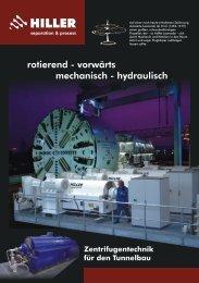 Zentrifugentechnik für den Tunnelbau - Hiller GmbH