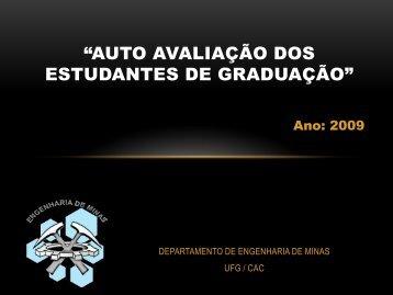 """""""Auto avaliação dos Estudantes de Graduação"""" - CAVI - UFG"""