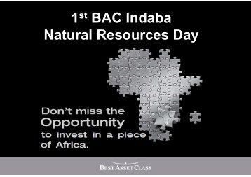 BAC Africa 4 reasons to be bullish [Mode de ... - Bacfund.ch