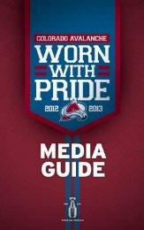 2012-13 Colorado Avalanche Media Guide