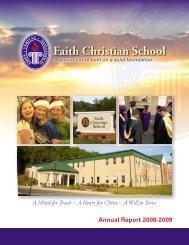 Annual Report - Faith Christian School