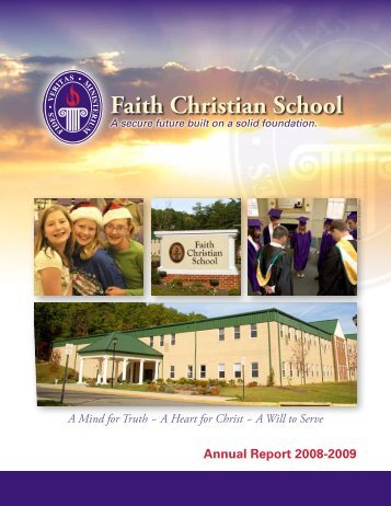 Annual Report - Faith Christian School