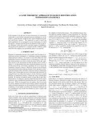 A game theoretic approach to Source Identification with