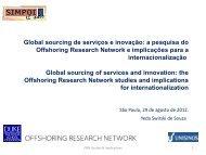 Global sourcing de serviços e inovação: a pesquisa do ... - Simpoi