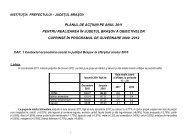 planul de actiuni pe anul 2011 pentru realizarea in judetul brasov a ...