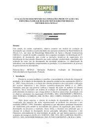 AVALIAÇÃO DE DESEMPENHO DAS OPERAÇÕES ... - Simpoi
