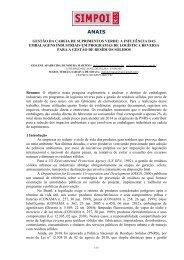 gestão da cadeia de suprimentos verde: a influência das ... - Simpoi