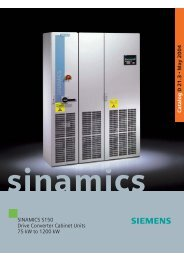 SINAMICS S150 Drive Converter Cabinet Units 75 kW to 1200 kW ...