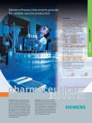 Siemens Process instruments provide for reliable ... - SETAMS SA