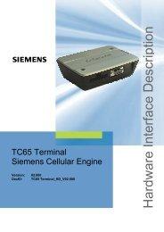 TC65 Terminal - Hardware Interface Description - SETAMS SA
