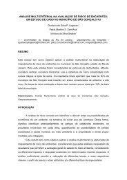 análise multicriterial na avaliação de risco de enchentes