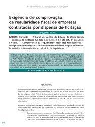 Exigência de comprovação de regularidade fiscal ... - Revista do TCE