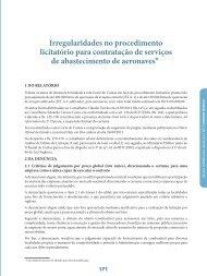 Irregularidades no procedimento licitatório para ... - Revista do TCE