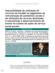 Impossibilidade de utilização de recursos do ... - Revista do TCE