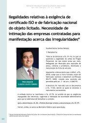 Ilegalidades relativas à exigência de certificado ... - Revista do TCE
