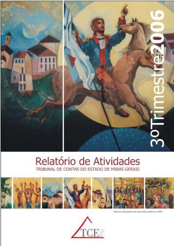 Relatório de Atividades - 3º Trimestre de 2006 - Tribunal de Contas ...