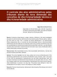 O controle dos atos administrativos pelos tribunais ... - Revista do TCE