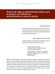 Reserva de vagas na administração pública para as - Revista do TCE