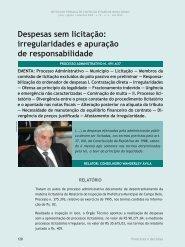 Despesas sem licitação: irregularidades e ... - Revista do TCE