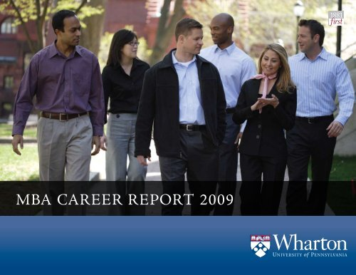 MBA CAreer report 2009 - Wharton MBA Career Management
