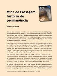 Mina da Passagem, história de permanência - Revista do TCE