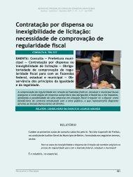 Contratação por dispensa ou inexigibilidade de ... - Revista do TCE