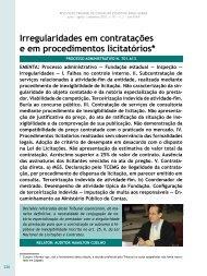 Irregularidades em contratações e em ... - Revista do TCE