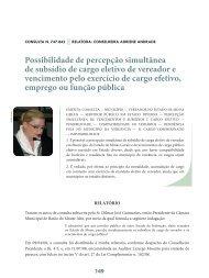 Possibilidade de percepção simultânea de ... - Revista do TCE