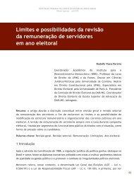 Limites e possibilidades da revisão da ... - Revista do TCE
