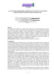AVALIAÇÃO DE OPERADORES LOGÍSTICOS: O CASO ... - Simpoi