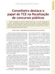 Conselheiro destaca o papel do TCE na ... - Revista do TCE
