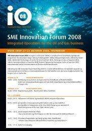 SME Program - Integrated Operations 2013