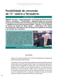 Possibilidade de concessão de 13° salário a ... - Revista do TCE