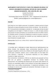 mapeamento participativo e conflitos urbanos em áreas de riscos a ...