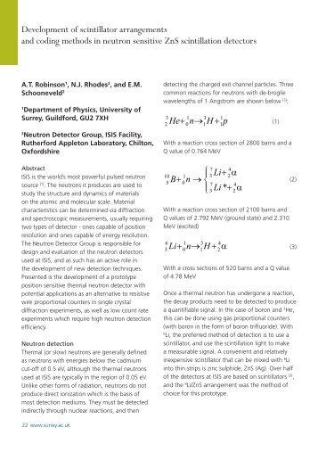 Development of scintillator arrangements and coding methods in ...