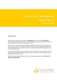 Numerical Reasoning Test 2 Solutions - Aptitude Test