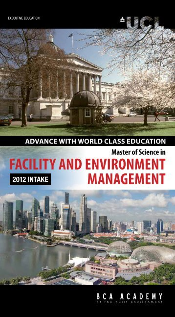 Facility and EnvironMEnt ManagEMEnt - BCA Academy