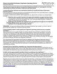Questions et réponses relatives à l'adaptation