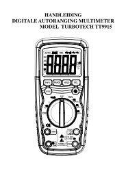 HANDLEIDING DIGITALE AUTORANGING MULTIMETER ... - Ccinv.be