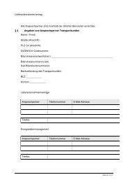 Lieferantenrahmenvertrag Ansprechpartner Transportkunden