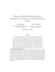 Wages and Health Worker Retention: Evidence from ... - CReAM