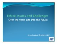 Ann Buckett - Ethical issues and challenges - ACSG