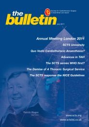 Annual Meeting London 2011 - Society for Cardiothoracic Surgery