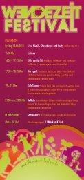 Flyer für das Festival - Wendezeit-Festival