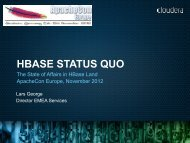 HBase Status Quo - ApacheCon Europe - Nov 2012